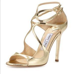 NIB Jimmy Choo Lang Gold Mirror Sandals 👡